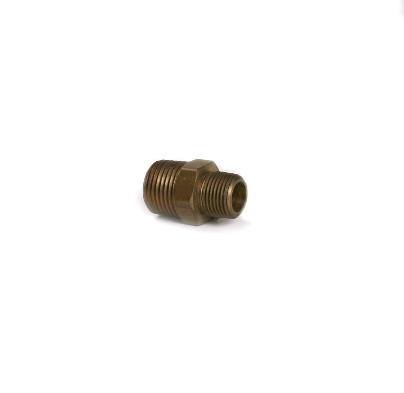 3/8'' x 1/2'' Brass Hex Nipple | 052-075