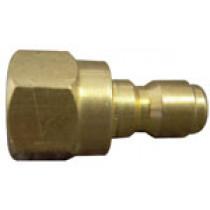 1/4'' Brass Male Flow-Thru Quick Connect | HFBR335